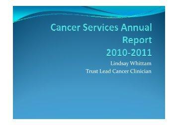 Cancer Services Annual Report - Agenda Item 3