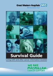 Cancer Survival Guide(PDF) - The Great Western Hospital