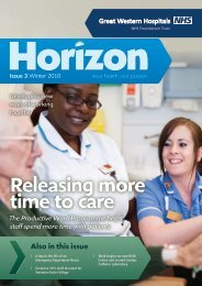 Horizon winter 2010(PDF) - The Great Western Hospital