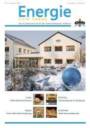 Kundenzeitschrift Ausgabe Nr. 2 Dezember 2009 - Gemeindewerke ...