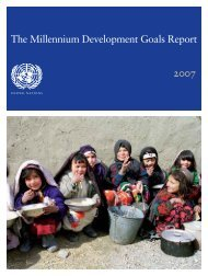 The Millennium Development Goals Report 2007