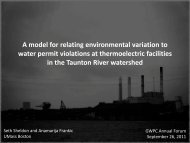 A model for relating environmental variation to water permit ...