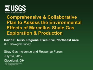 David Russ of the USGS - Groundwater Protection Council
