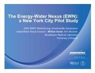The Energy-Water Nexus (EWN): a New York City Pilot Study y y