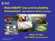 WaterSMART Use and Availability Assessment