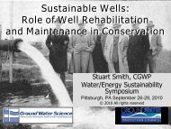 Sustainable Wells: Role of Well Rehabilitation and Maintenance in ...