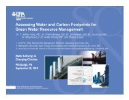 Assessing Water and Carbon Footprints for Green Water Resource ...