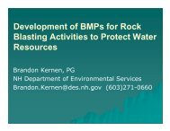 D l t fBMP f R k Development of BMPs for Rock Blasting Activities to ...