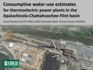 Consumptive water-use estimates for thermoelectric power plants in ...