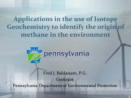 Applications in the use of Isotope Geochemistry to identify the origin ...
