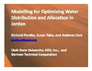 Modelling for Optimizing Water Modelling for Optimizing Water ...