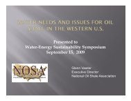 Presented to Water-Energy Sustainability Symposium September 15 ...
