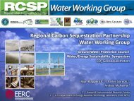 Regional Carbon Sequestration Partnership Water Working Group