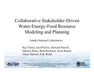 Collaborative Stakeholder-Driven Water-Energy-Food Resource ...