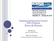 Bill Bryson Bob VanVoorhees - Groundwater Protection Council