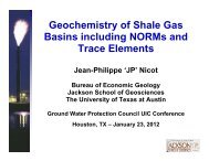 Geochemistry of Shale Gas Basins including NORMs and Trace ...
