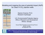Modeling and mapping the area of potential impact (AoPI) for Class ...