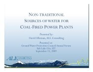 non-traditional sources ofwater for coal-fired power plants