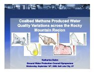 Coalbed Methane Produced Water Quality Variations across the ...