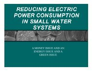 reducing electric power consumption in small water systems