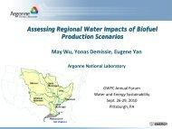 Assessing Regional Water Impacts of Biofuel Production Scenarios