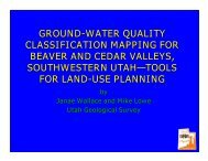 Ground-water quality classification maps