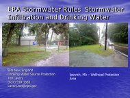 EPA Stormwater Rules Stormwater Infiltration and Drinking Water ...