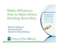 Water Efficiency - Groundwater Protection Council