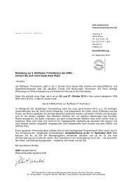 Einladung Raiffeisen IT-Konferenz - GWS mbH