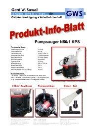 Pumpsauger N50/1 KPS - Gws-sawall.de
