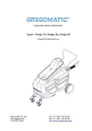 Betriebssanleitung Grego 18, 35, 60