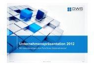 Unternehmenspräsentation 2012 - GWS mbH