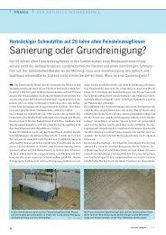 Sanierung oder Grundreinigung? - Gws-sawall.de