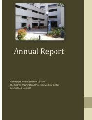 Annual Report - George Washington University Medical Center