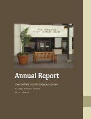 Annual Report 2011 - 2012 - George Washington University Medical ...