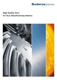 High Quality Steel for Gear Manufacturing Industry - Buderus ...