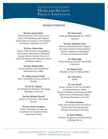 HSPI Steering Committee List - George Washington University ...