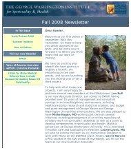 GWish Newsletter - George Washington University Medical Center