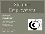 Student Employment - George Washington University Medical Center