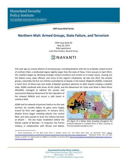 HSPI Issue Brief 20 Northern Mali - George Washington University