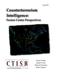 Counterterrorism Intelligence: Fusion Center Perspectives - George ...