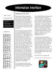 Information Interface Information Interface - George Washington ...