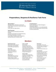 Preparedness, Response & Resilience Task Force - George ...