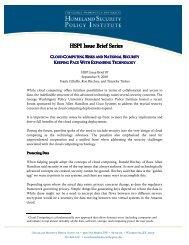 HSPI Issue Brief Series HSPI Issue Brief Series - George ...