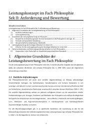 Konzept zur Leistungsbewertung im Fach Philosophie