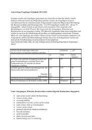 Fragebogen Auswertung 2011/12 - Gymnasium Hartberg