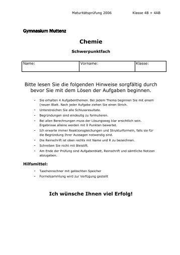 Chemie - Gymnasium Muttenz