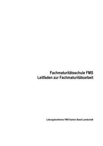 Leitfaden zur Fachmaturitätsarbeit - Gymnasium und FMS ...