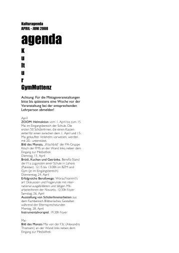 agenda - Gymnasium Muttenz