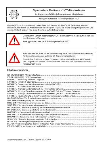 Gymnasium Muttenz / ICT-Basiswissen